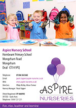 cover of the Aspire Nurseries brochure