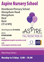 cover of the Aspire Nurseries flyer